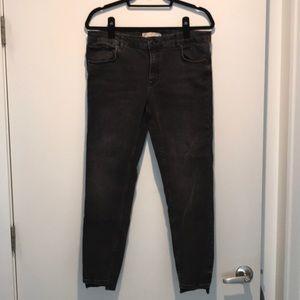 Zara washed black denim skinny jean